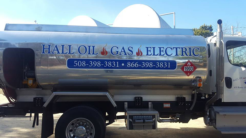 hall oil fuel truck